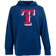 Antigua Men's Texas Rangers Royal Signature Hoodie