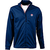 Antigua Men's Texas Rangers Full-Zip Royal Golf Jacket
