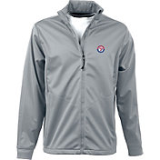 Antigua Men's Texas Rangers Full-Zip Silver Golf Jacket