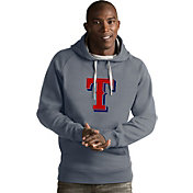 Antigua Men's Texas Rangers Grey Victory Pullover