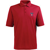 Antigua Men's Texas Rangers Xtra-Lite Patriotic Logo Red Pique Performance Polo