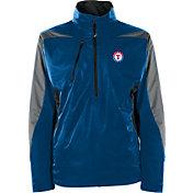 Antigua Men's Texas Rangers Pullover Royal Discover Jacket