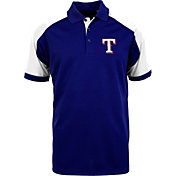 Antigua Men's Texas Rangers Century Royal/White Polo