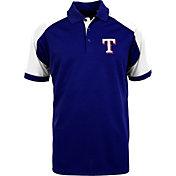 Antigua Men's Texas Rangers Century Royal/White Polo