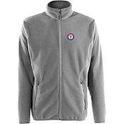 Antigua Men's Texas Rangers Full-Zip Silver Ice Jacket