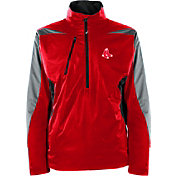 Antigua Men's Boston Red Sox Pullover Red Discover Jacket