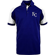 Antigua Men's Kansas City Royals Century Royal/White Polo