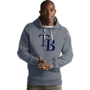 Antigua Men's Tampa Bay Rays Grey Victory Pullover