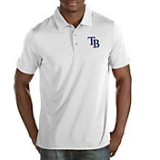 Antigua Men's Tampa Bay Rays White Quest Performance Polo