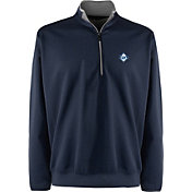 Antigua Men's Tampa Bay Rays Leader Navy Quarter-Zip Pullover