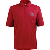 Antigua Men's Tampa Bay Rays Xtra-Lite Patriotic Logo Red Pique Performance Polo