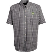Antigua Men's Oakland Athletics Scholar Plaid Button-Up Shirt