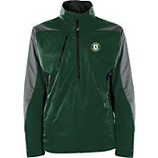 Antigua Men's Oakland Athletics Pullover Green Discover Jacket