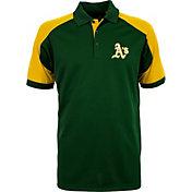 Antigua Men's Oakland Athletics Century Green/Gold Polo