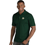 Antigua Men's Oakland Athletics Green Inspire Performance Polo