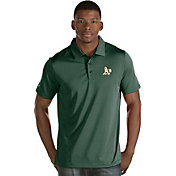 Antigua Men's Oakland Athletics Green Quest Performance Polo