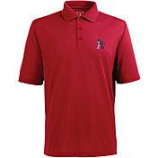 Antigua Men's Oakland Athletics Xtra-Lite Patriotic Logo Red Pique Performance Polo