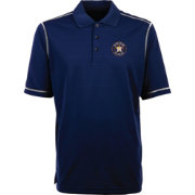 Antigua Men's Houston Astros Icon Navy Performance Polo