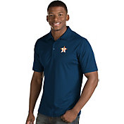 Antigua Men's Houston Astros Navy Inspire Performance Polo