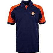 Antigua Men's Houston Astros Century Navy/Orange Polo
