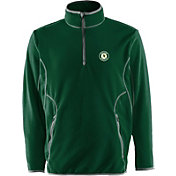 Antigua Men's Oakland Athletics Quarter-Zip Green Ice Pullover