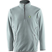 Antigua Men's Oakland Athletics Quarter-Zip Silver Ice Pullover