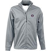Antigua Men's Minnesota Twins Full-Zip Silver Golf Jacket