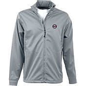 Antigua Men's Minnesota Twins Full-Zip Silver Golf Jacket