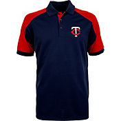 Antigua Men's Minnesota Twins Century Navy/Red Polo
