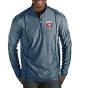 Antigua Men's Minnesota Twins Navy Tempo Quarter-Zip Pullover
