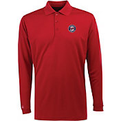 Antigua Men's Minnesota Twins Exceed Red  Long Sleeve Performance Polo