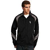 Antigua Men's Chicago White Sox Tempest Black Full-Zip Jacket