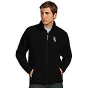 Antigua Men's Chicago White Sox Full-Zip Black Ice Jacket