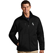Antigua Men's Chicago White Sox Black Traverse Fleece Jacket