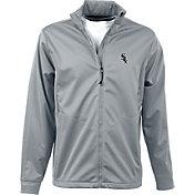 Antigua Men's Chicago White Sox Full-Zip Silver Golf Jacket