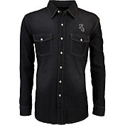 Antigua Men's Chicago White Sox Chambray Button-Up Black Long Sleeve Shirt