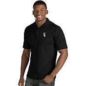 Antigua Men's Chicago White Sox Black Inspire Performance Polo