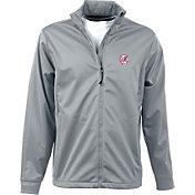 Antigua Men's New York Yankees Full-Zip Silver Golf Jacket