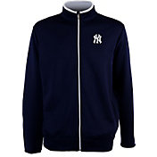 Antigua Men's New York Yankees Leader Navy Full-Zip Jacket