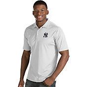Antigua Men's New York Yankees White Inspire Performance Polo