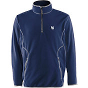 Antigua Men's New York Yankees Quarter-Zip Navy Ice Pullover