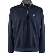 Antigua Men's New York Yankees Leader Navy Quarter-Zip Pullover