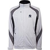 Antigua Men's New York Yankees Tempest White Full-Zip Jacket