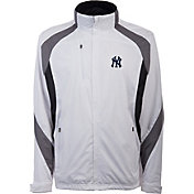 Antigua Men's New York Yankees Tempest White Full-Zip Jacket