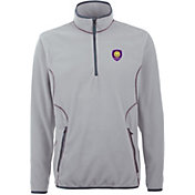 Antigua Men's Orlando City Ice Silver Quarter-Zip Fleece Jacket
