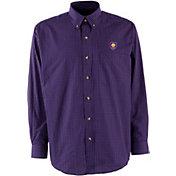 Antigua Men's Orlando City Purple Esteem Woven Long-Sleeve Shirt