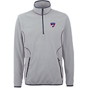 Antigua Men's FC Dallas Ice Silver Quarter-Zip Fleece Jacket