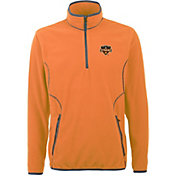 Antigua Men's Houston Dynamo Ice Orange Quarter-Zip Fleece Jacket