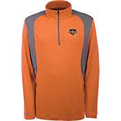 Antigua Men's Houston Dynamo Delta Orange Quarter-Zip Pullover