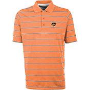 Antigua Men's Houston Dynamo Deluxe Orange Polo